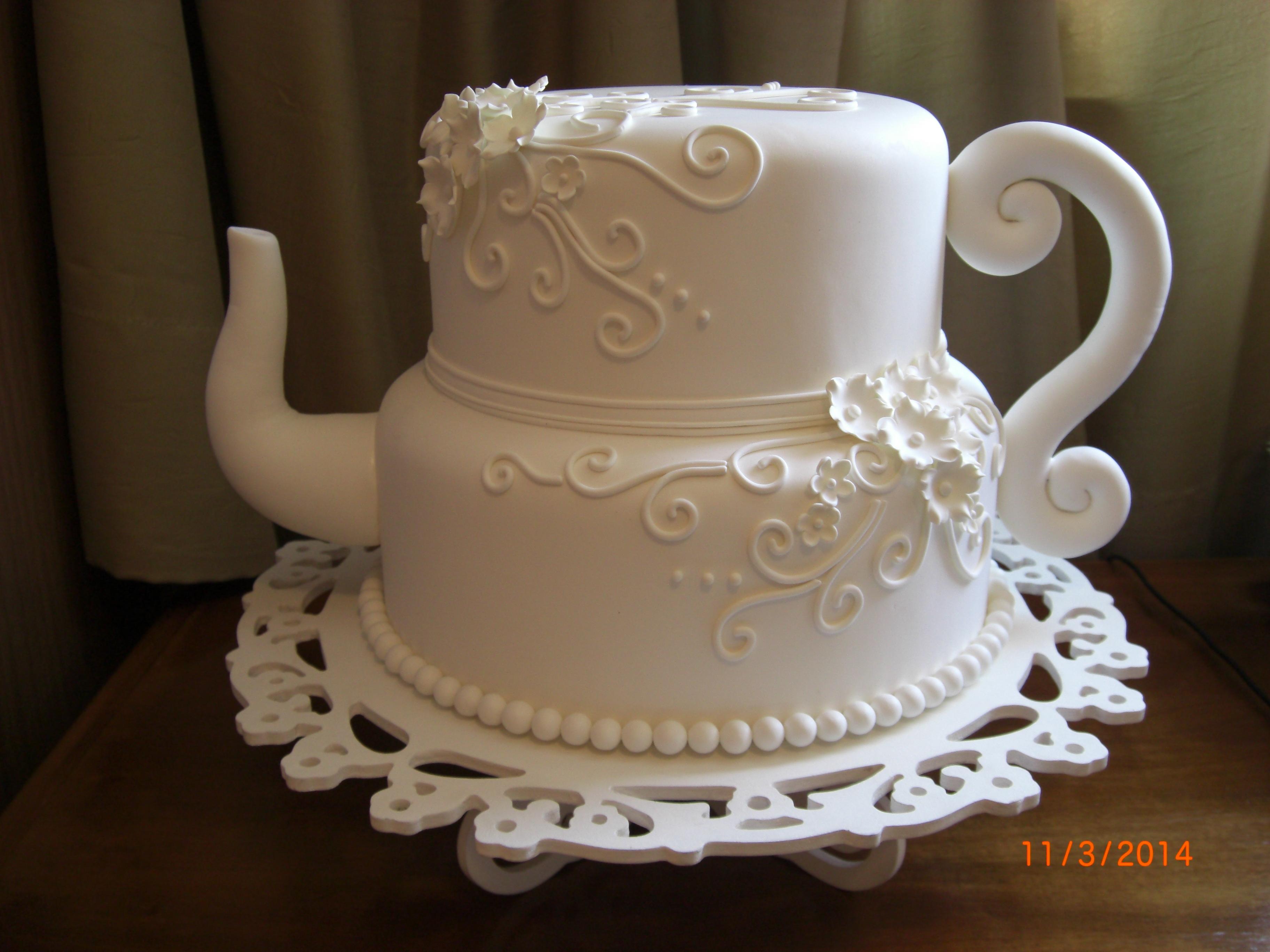 Bolo para chá de panela de chaleira