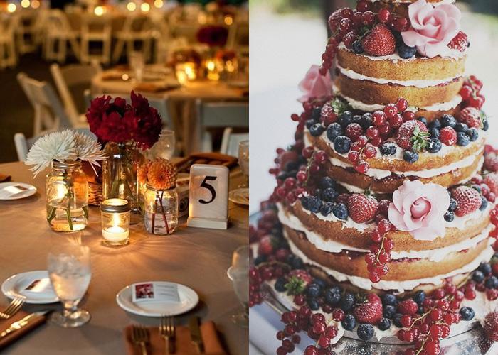 casamento rústico chique bolo e decoração