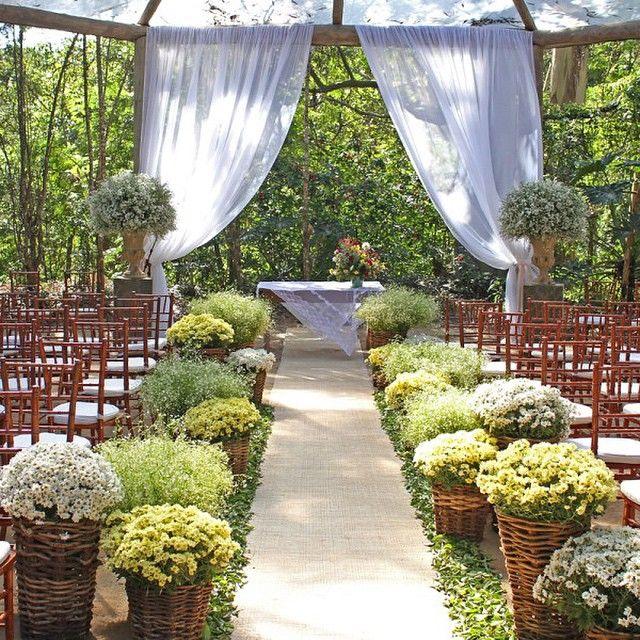 casamento rústico chique altar