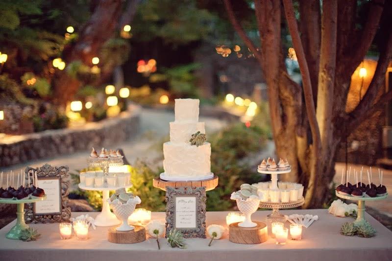 casamento rústico decoração mesa do bolo
