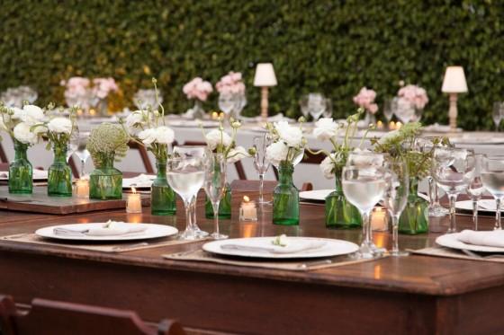 casamento rústico decoração das mesas