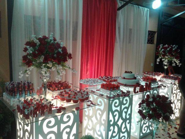 Decoraç u00e3o de casamento vermelho e branco Veja dicas e fotos! -> Decoração De Casamento Simples Com Tnt Vermelho E Branco