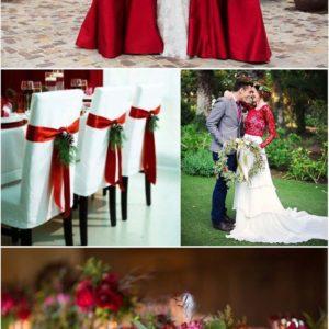 Decoração de casamento vermelho e branco ideias