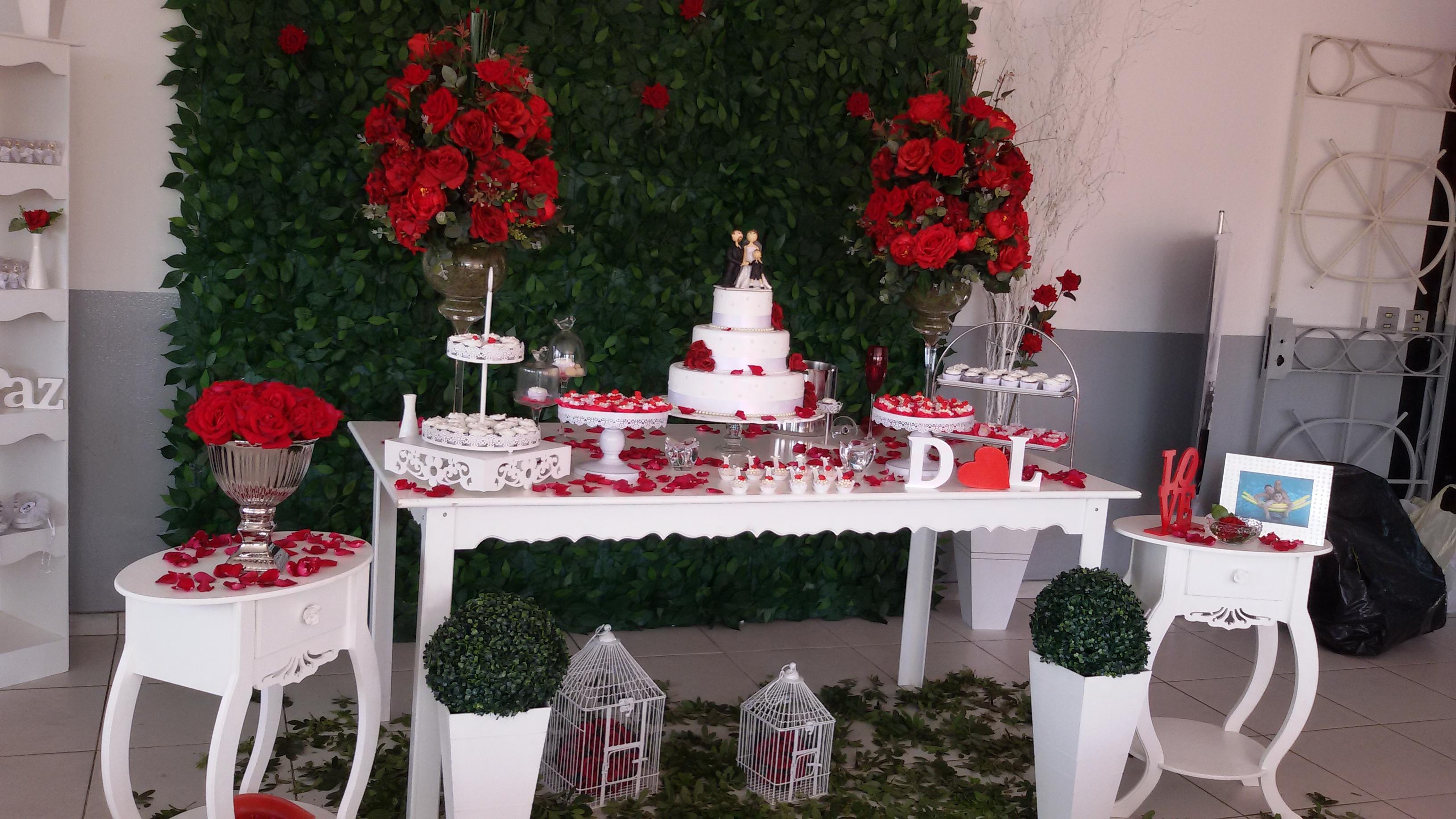 Decoraç u00e3o de casamento vermelho e branco Veja dicas e fotos! # Decoração Para Casamento Vermelho Branco E Dourado