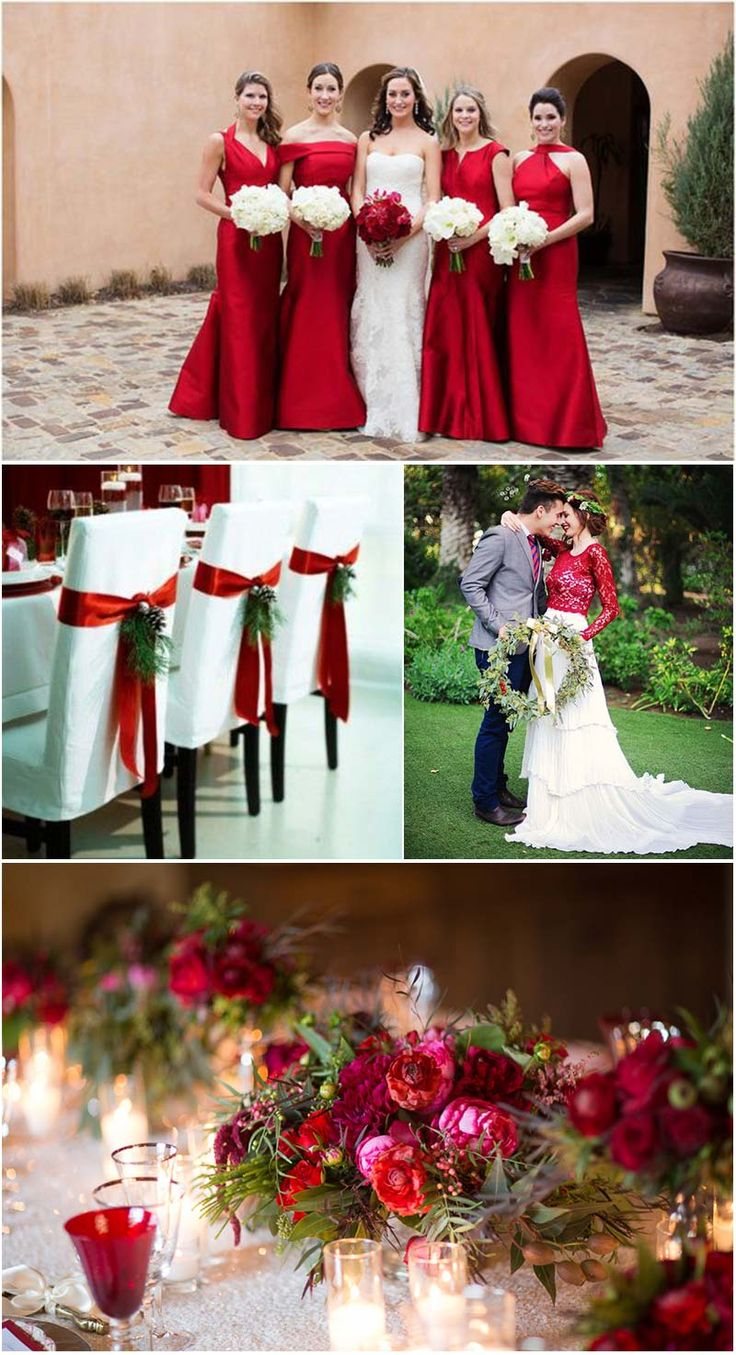 Decoraç u00e3o de casamento vermelho e branco Veja dicas e fotos! -> Decoração Para Casamento Vermelho Branco E Dourado