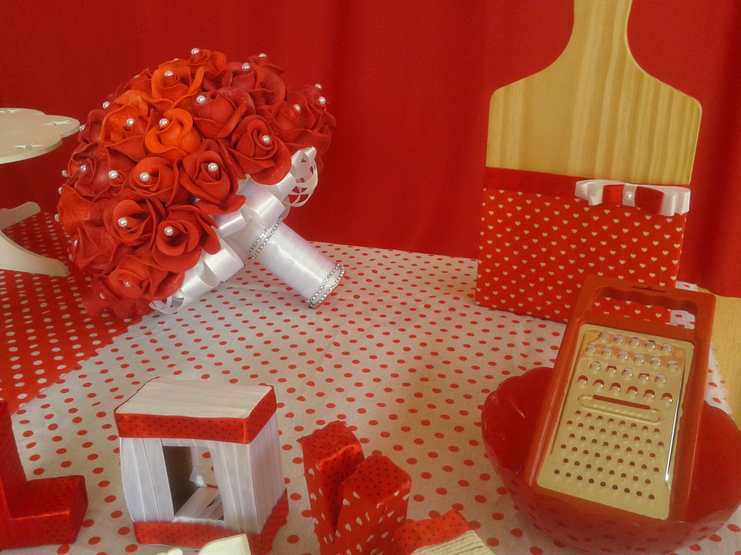 decoração cozinha vermelha
