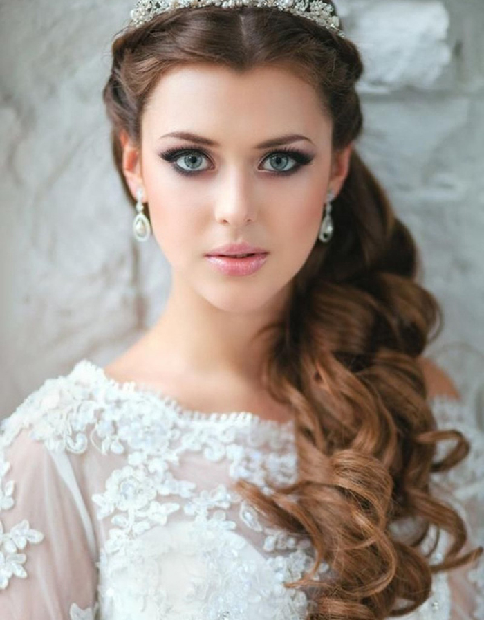 Maquiagem para noivas loiras com olhos verdes