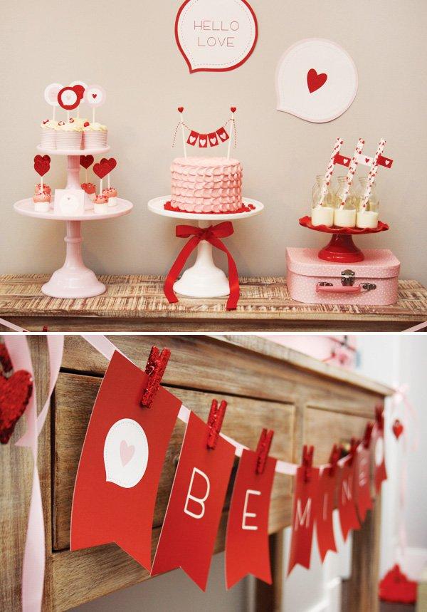 Noivado Simples de coração vermelho e branco