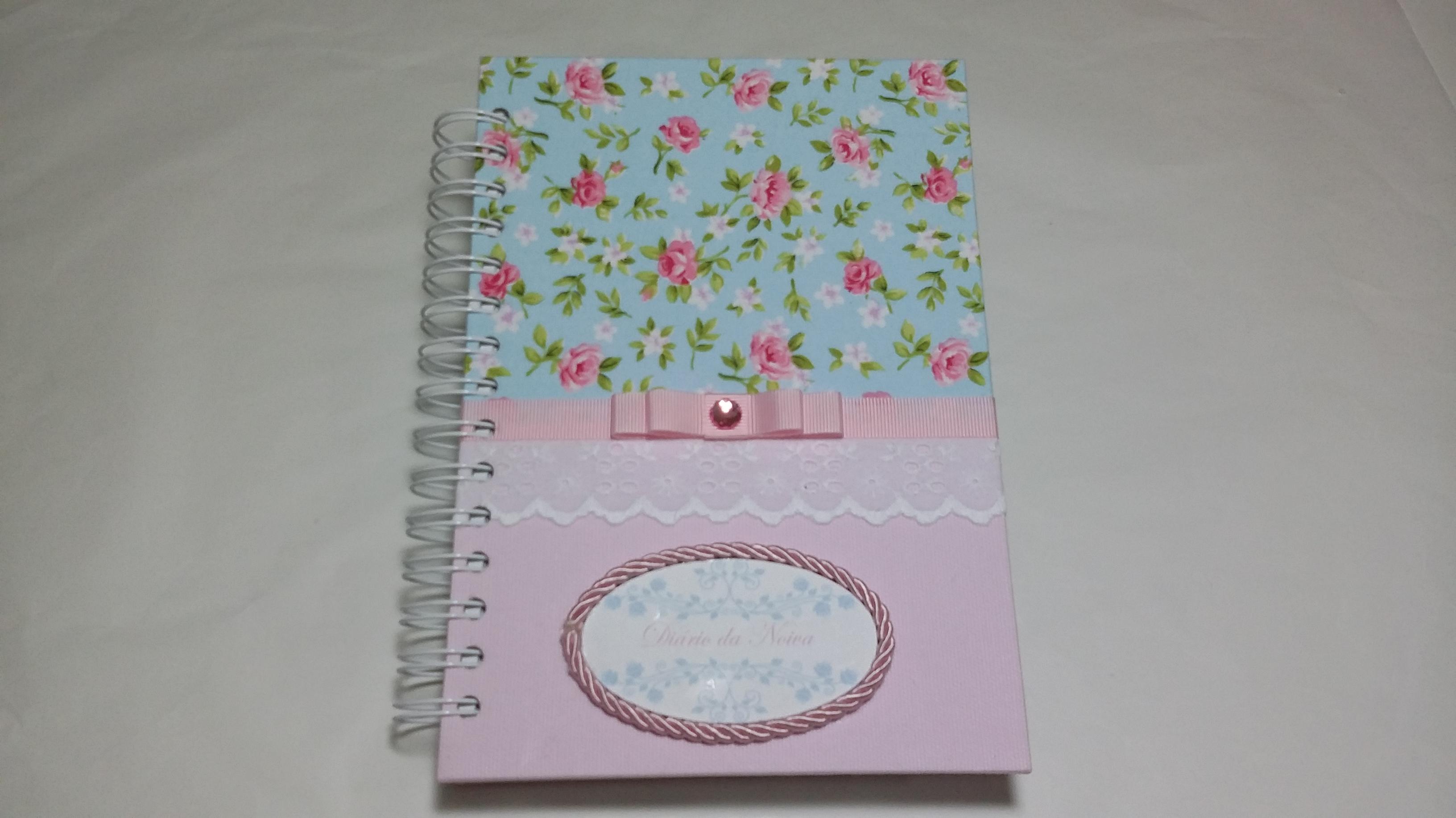 agenda da noiva rosa e azul