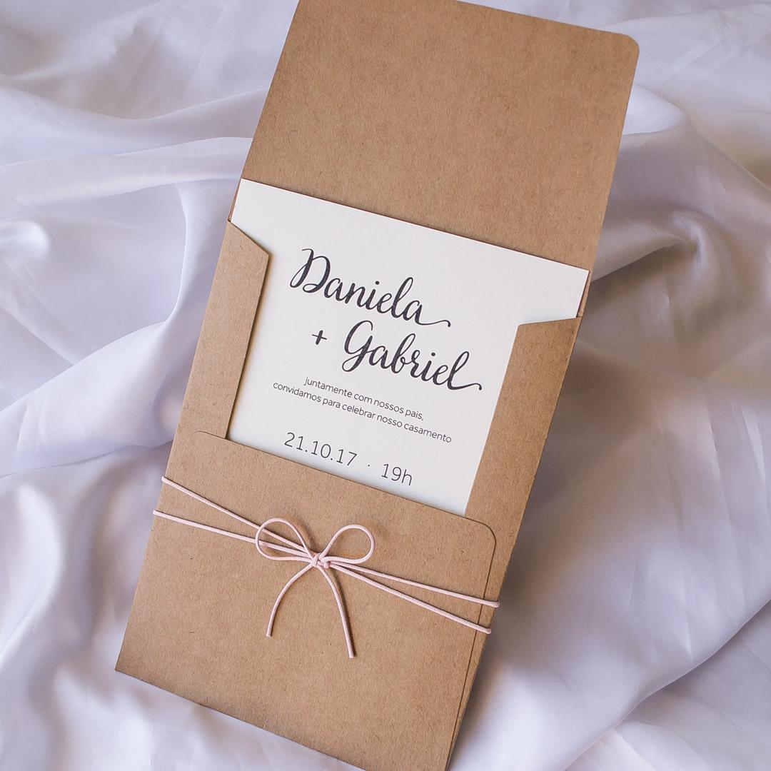 convite casamento rústico simples
