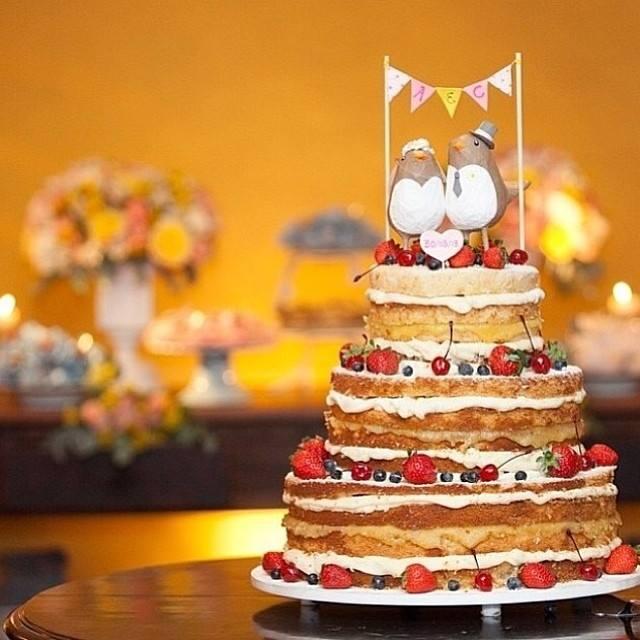 Bolo de casamento naked cake com Varalzinho