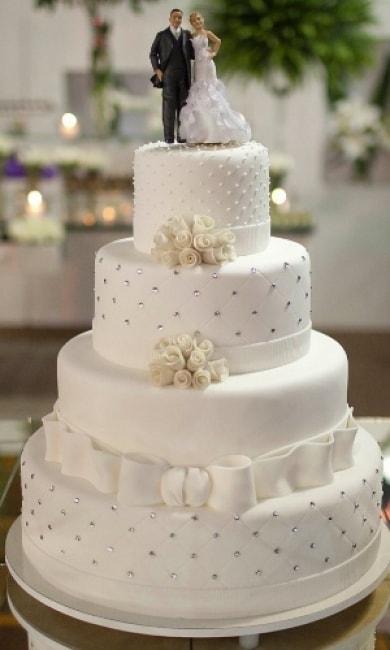 modelo de Bolo de casamento redondo