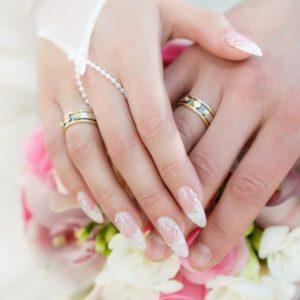 exemplo de unhas decoradas para noivas