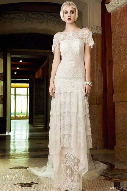 Exemplo de Vestido de noiva Vintage anos 20