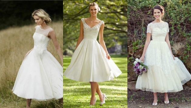 3 modelos de Vestido de noiva Vintage anos 50