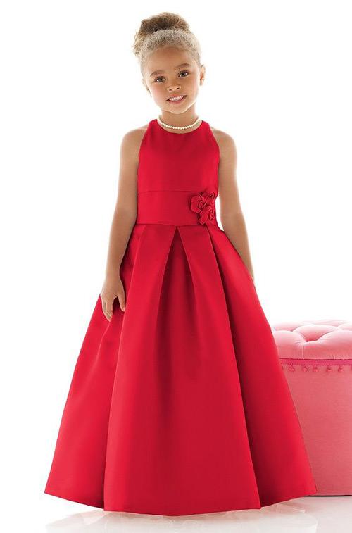 Vestido para dama de honra vermelho