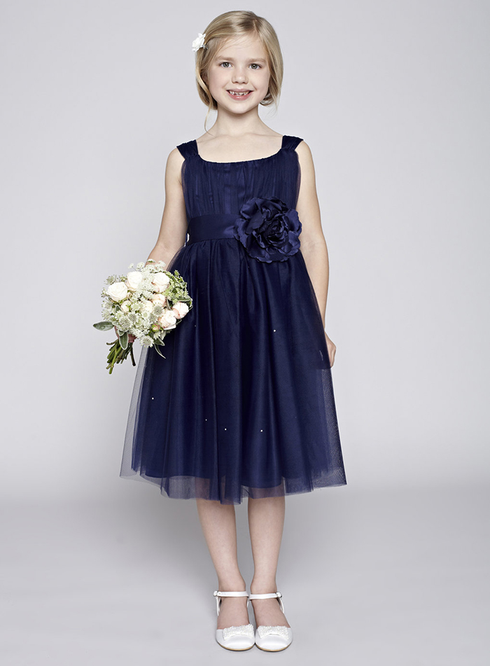 Vestido para dama de honra azul