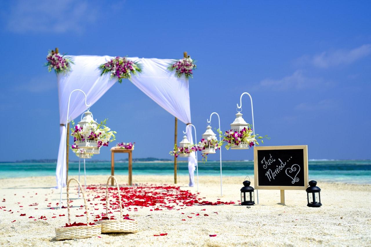casamento simples ao ar livre