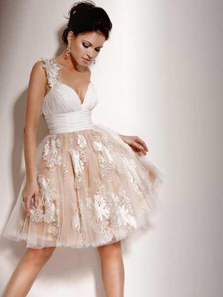 vestido de noiva renda curto