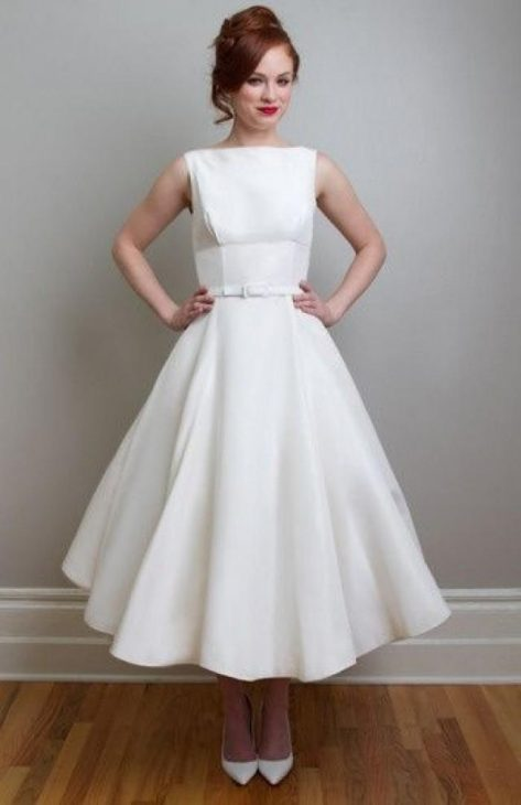 vestido de noiva curto rodado