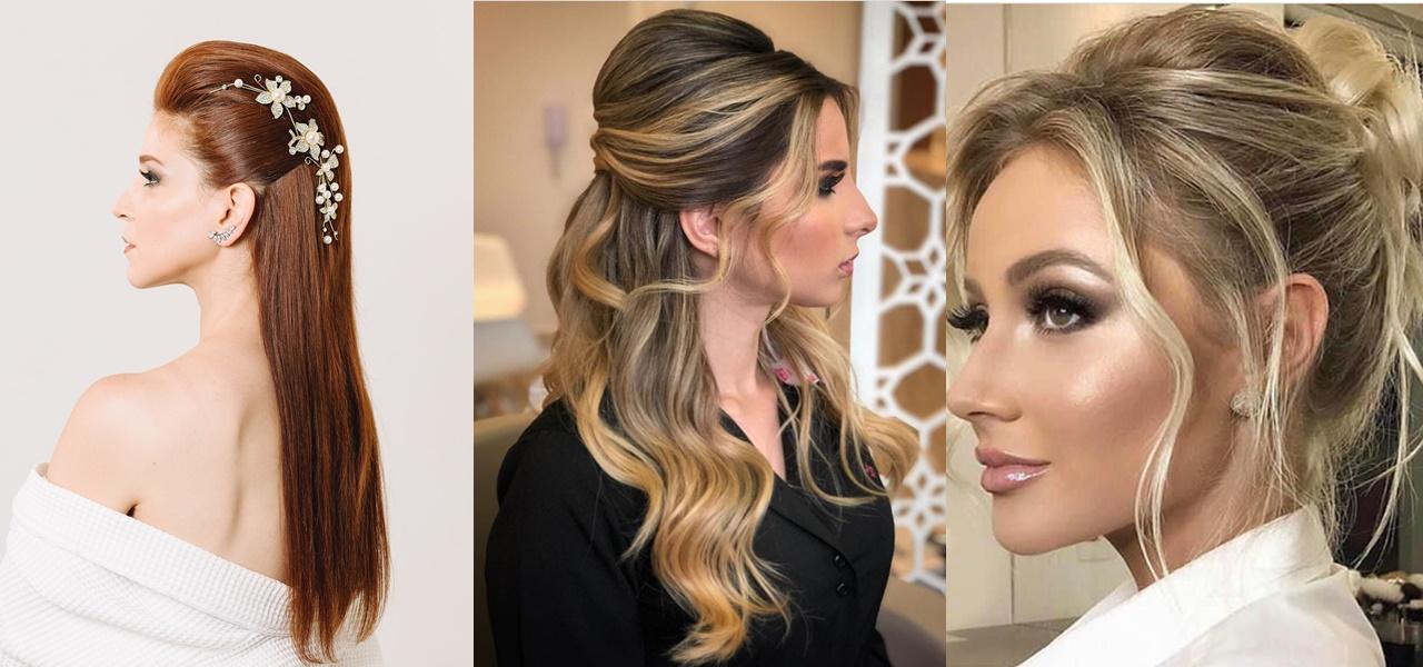 penteados para noivas com poucos cabelos