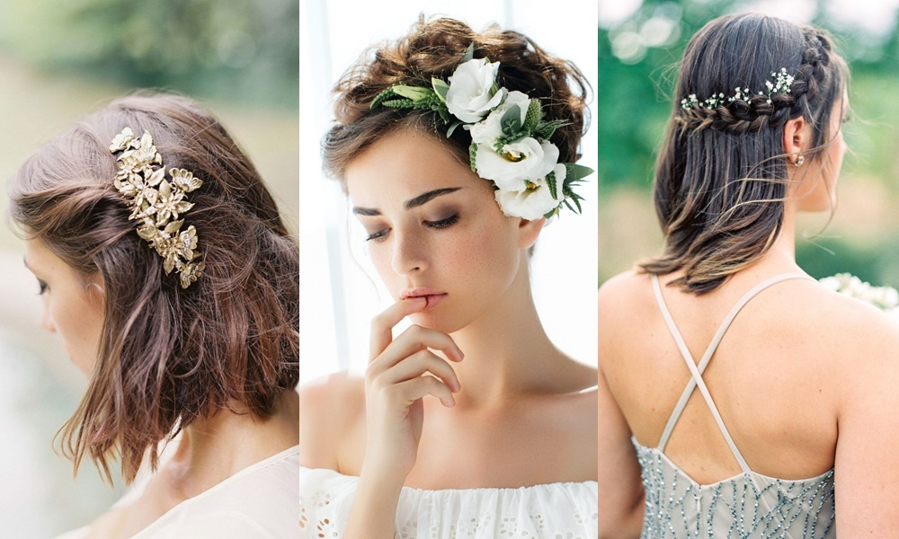 penteados para noivas cabelos curtos