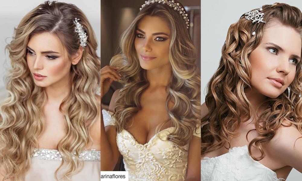 exemplos de penteados com cabelos soltos