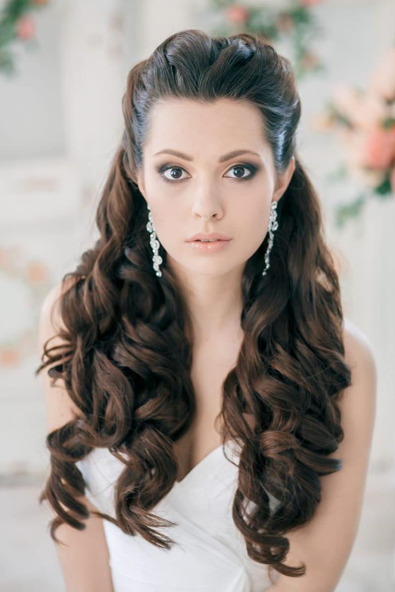 Brinco para noivas com cabelo solto