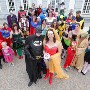 Casamentos diferentes tema super heróis