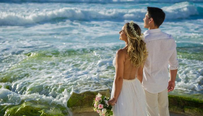 Casar em Cancún mar