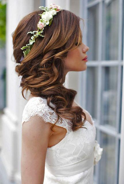 Tiara de flores para noivas