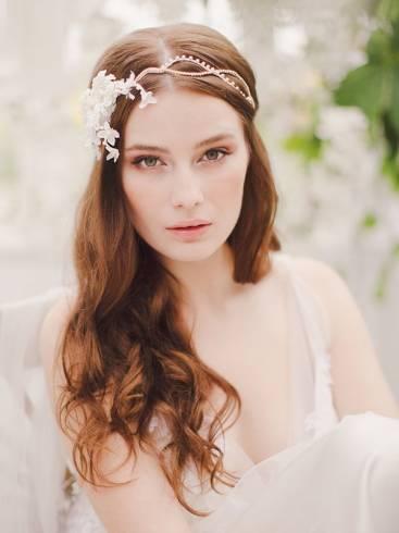 Tiaras para noivas para cabelo solto