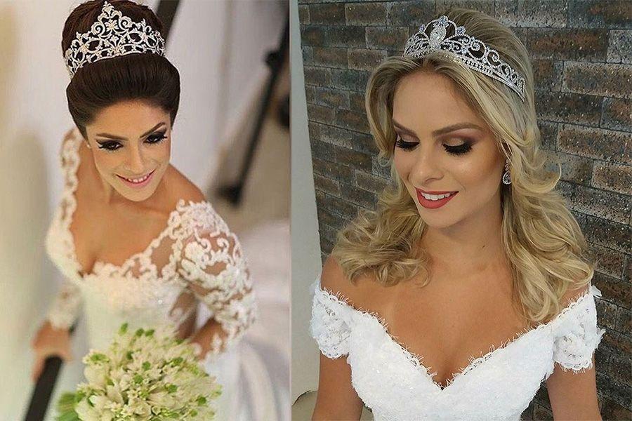Tiaras de coroa para noivas