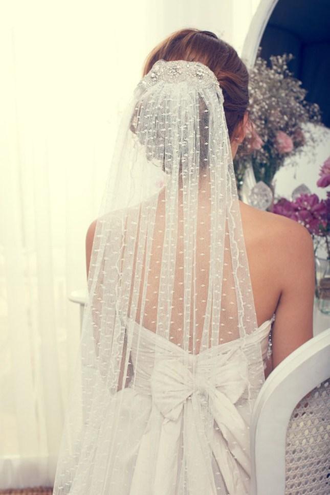 véu de noiva com brilho