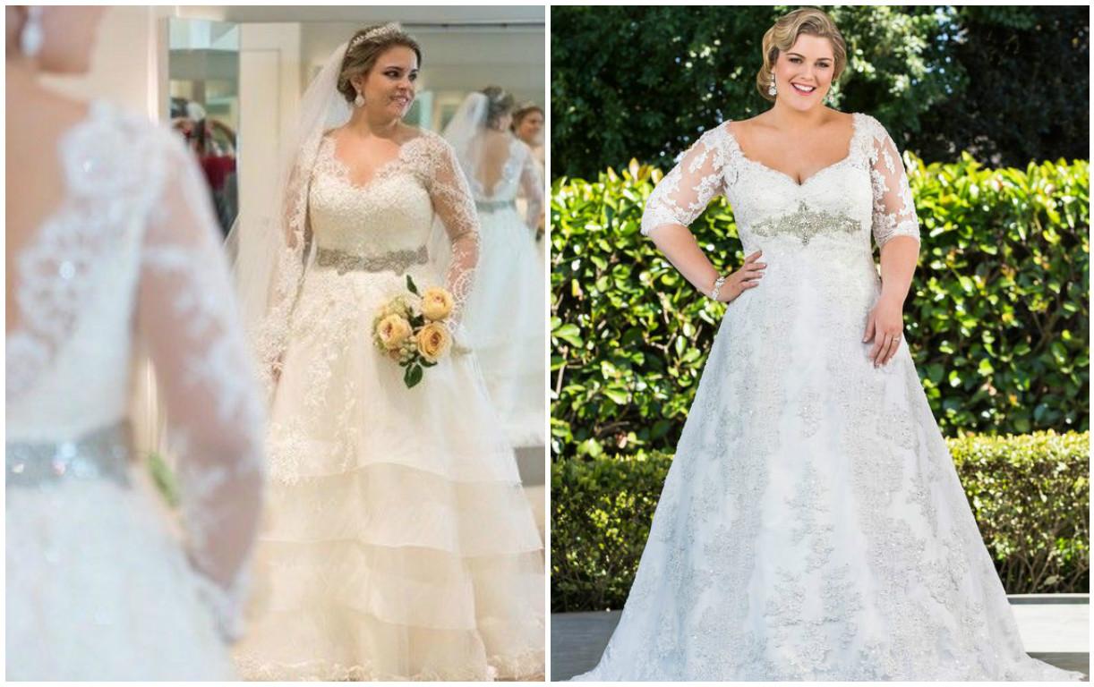 Vestido de noiva para gordinhas com manga