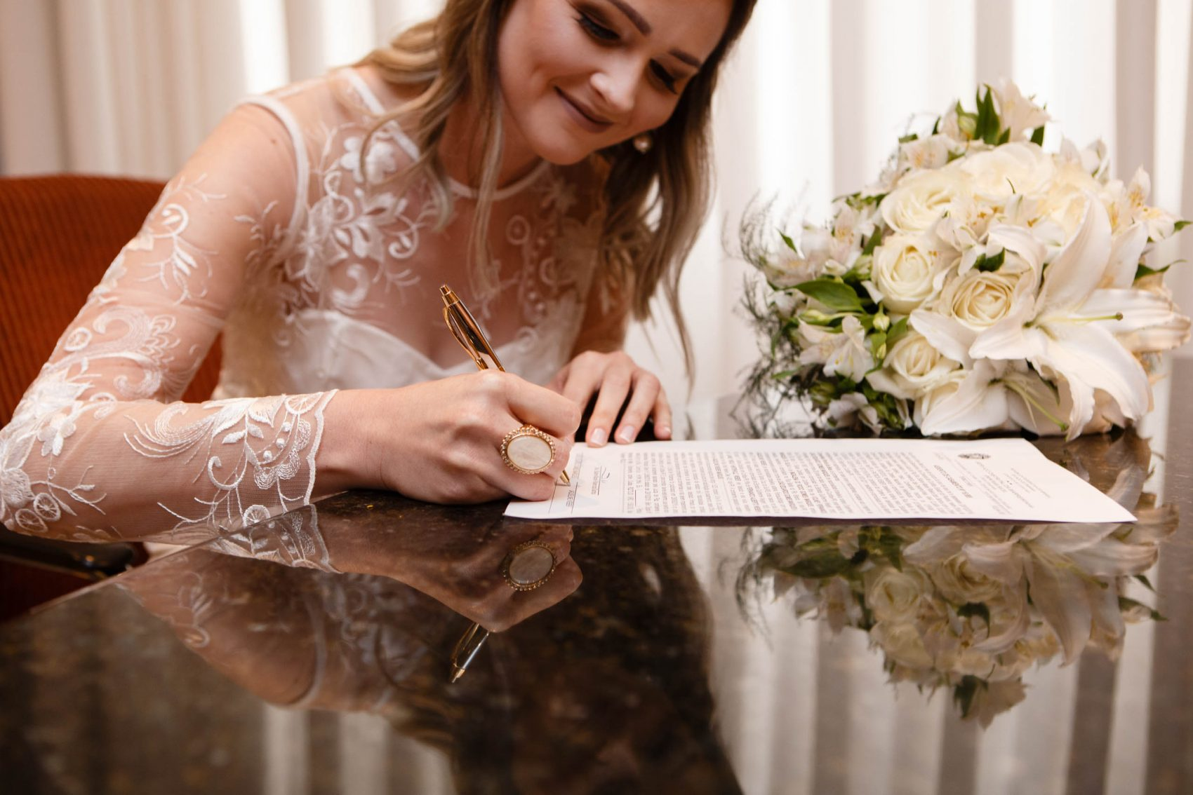 Cerimônia de casamento no civil