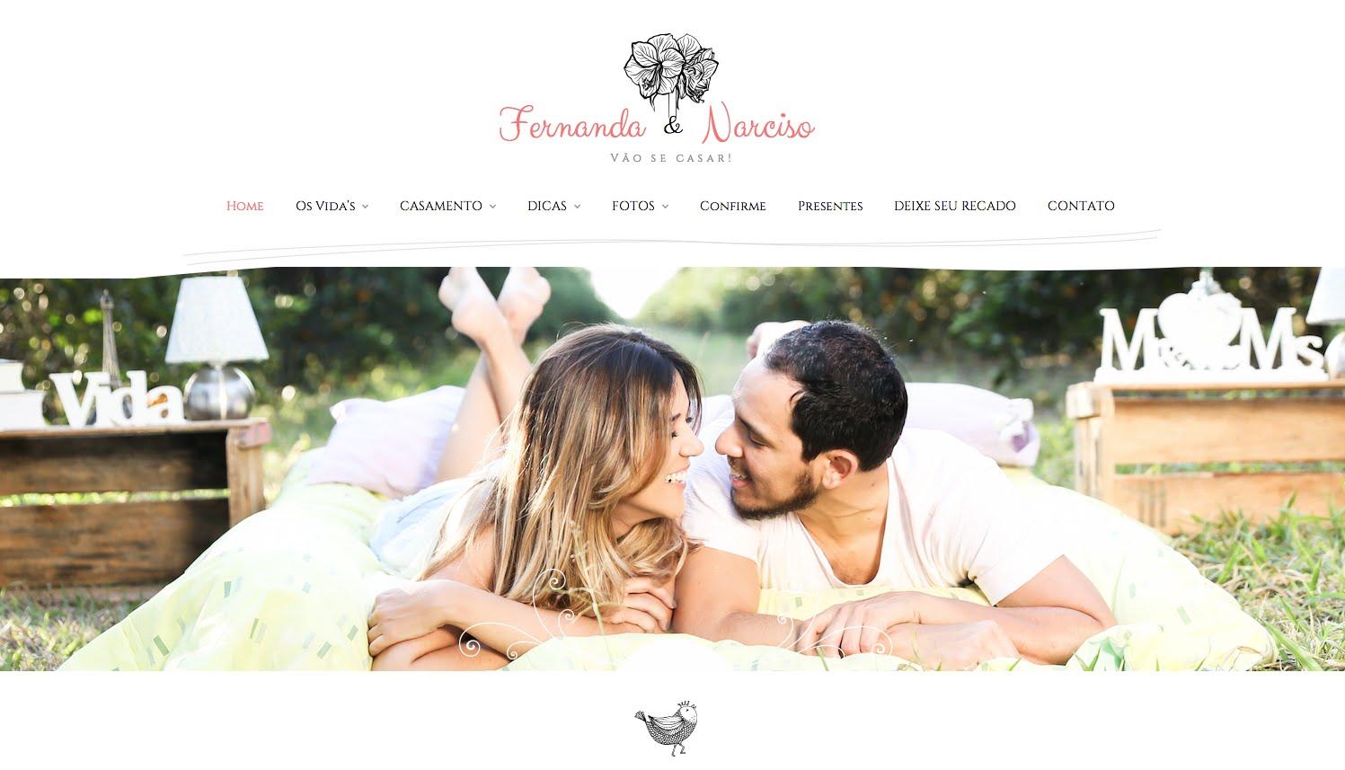 site de casamento