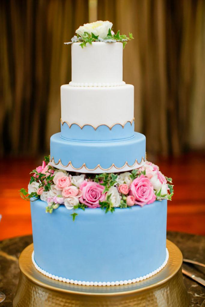 bolo fake azul