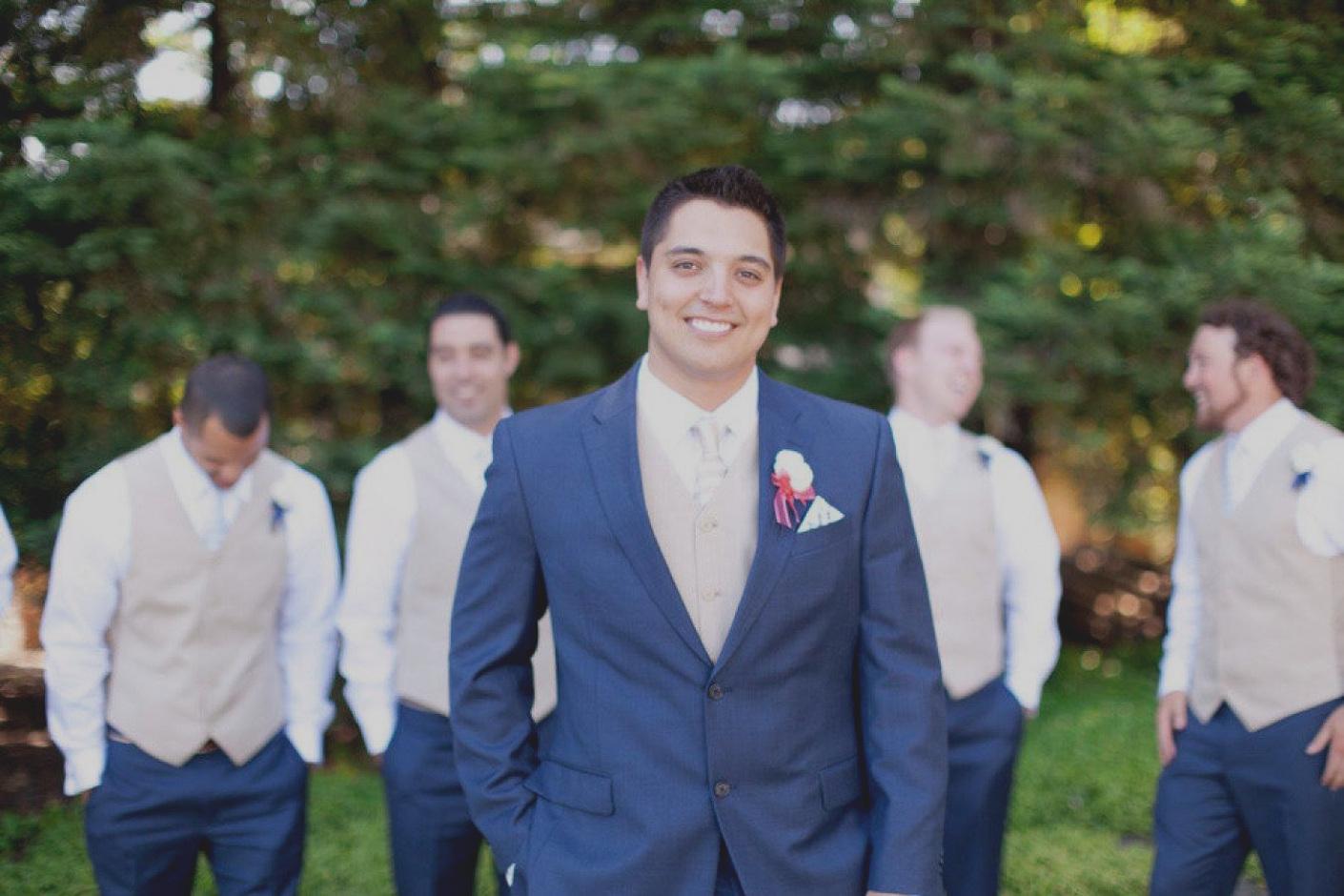terno para noivo azul