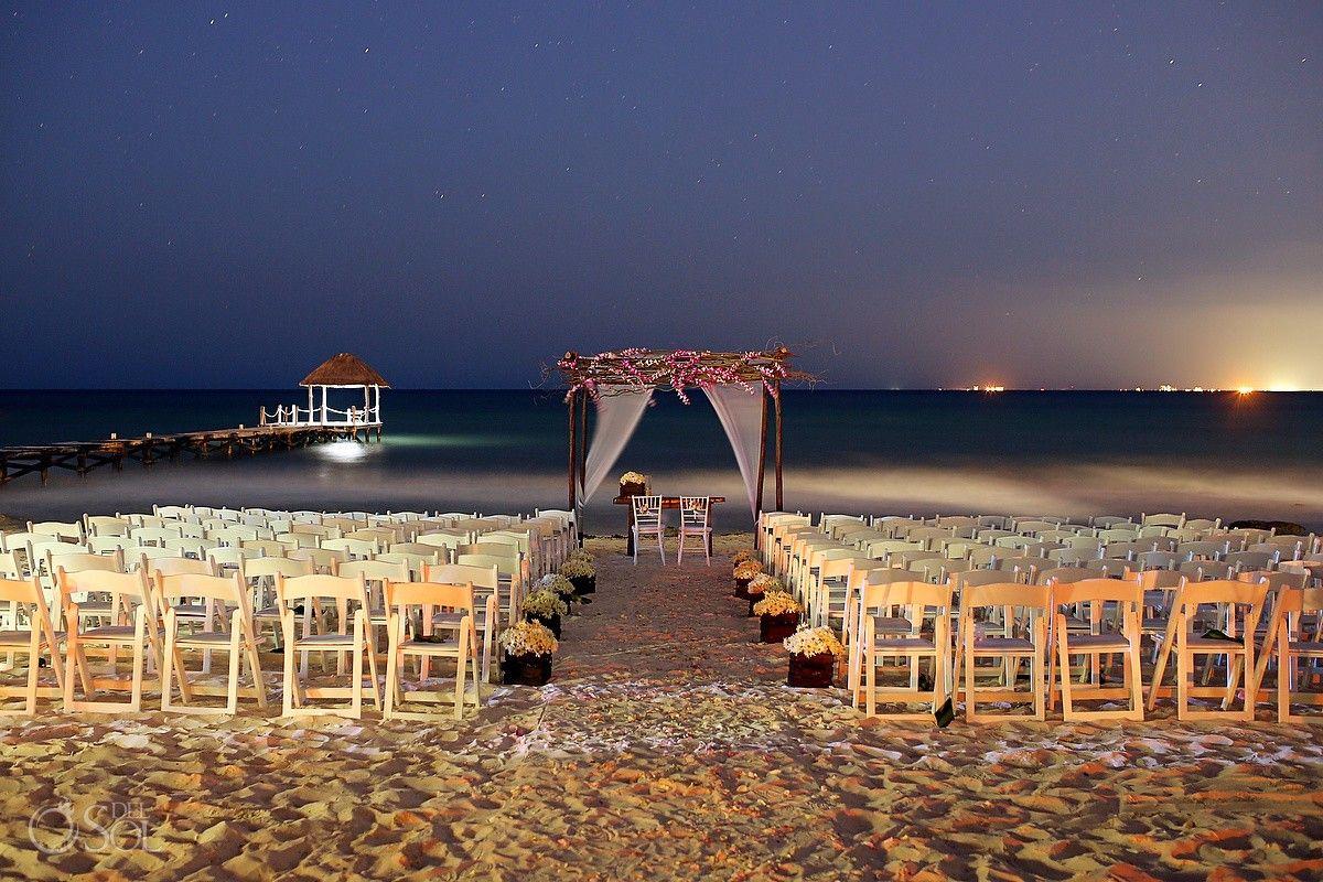 casamento na praia a noite