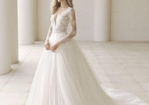 vestidos colados 2019 para noiva
