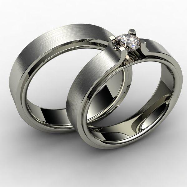 aliança de casamento ouro branco
