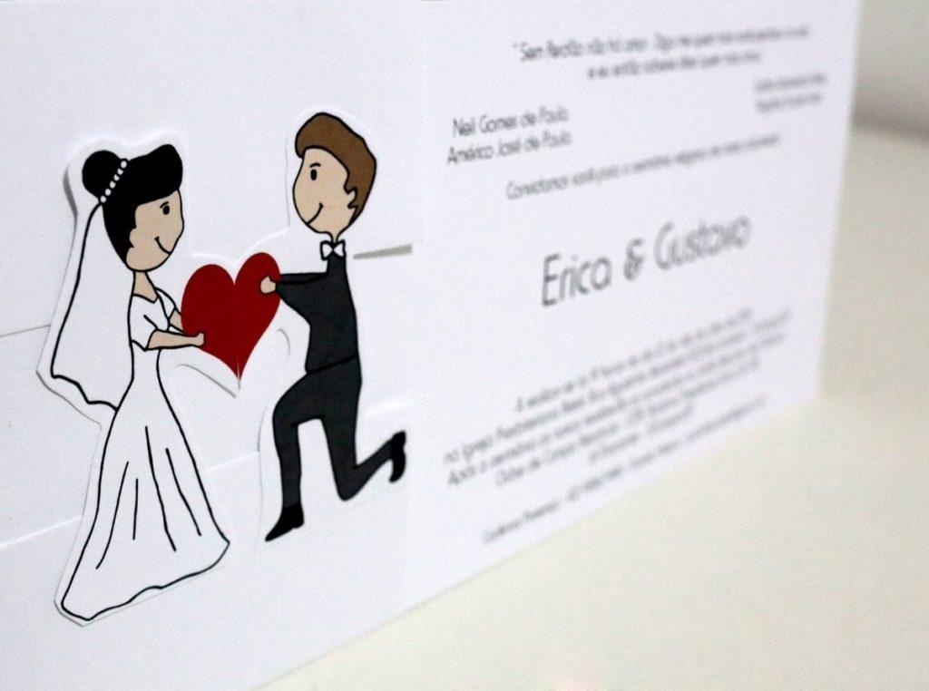 convite foto dos noivos