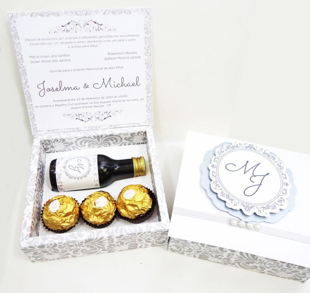 convite de casamento padrinhos