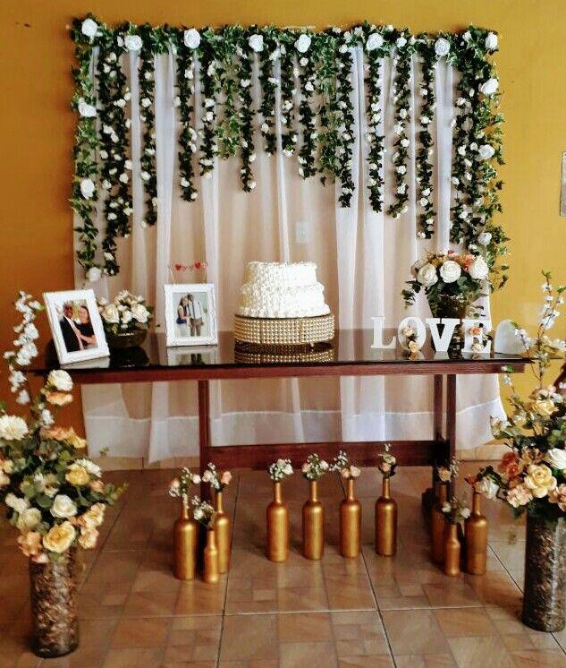 decoração de noivado bolo