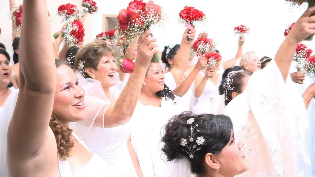 casamento comunitário buquê