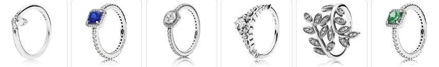 modelos de anel de noivado da Pandora