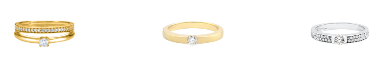aneis de noivado com pedra da vivara