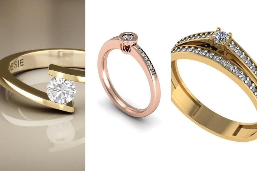 anel de ouro para noivado