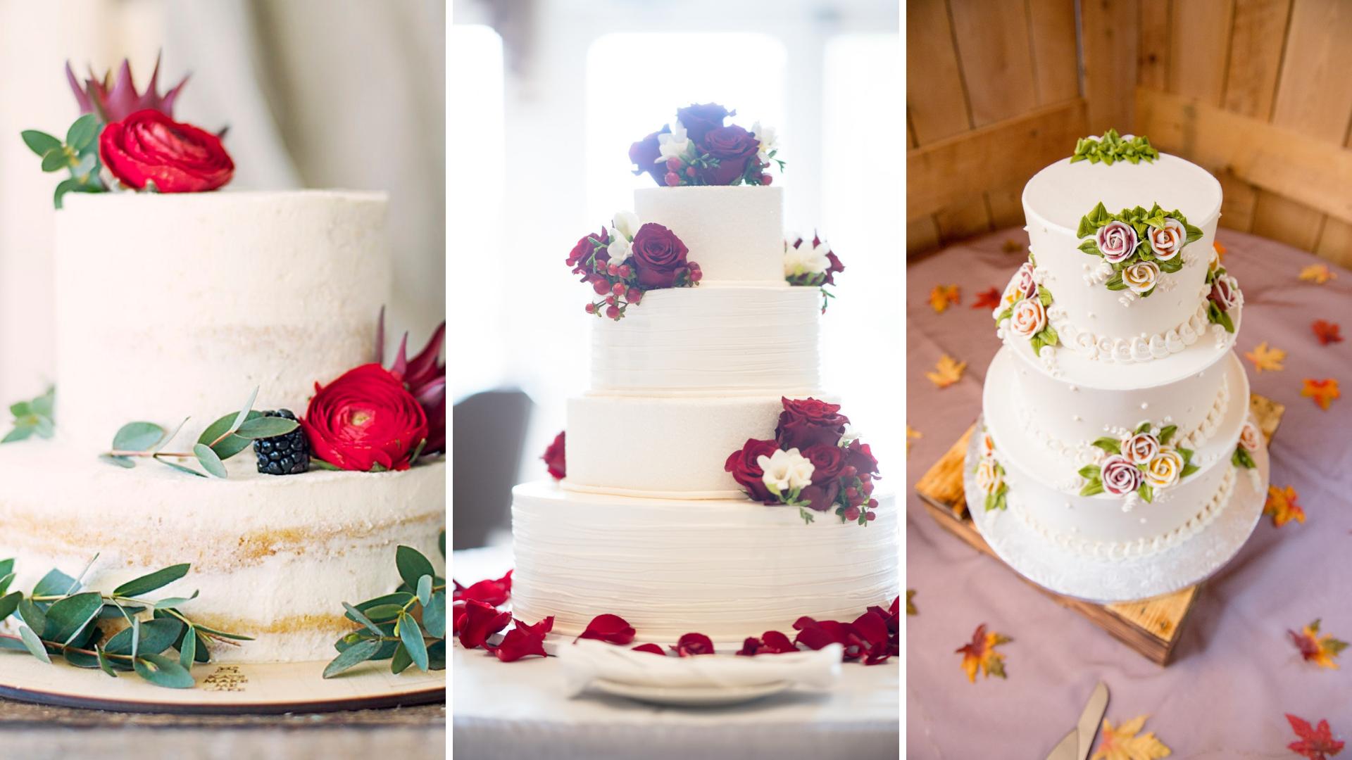decoracao bolo de casamento